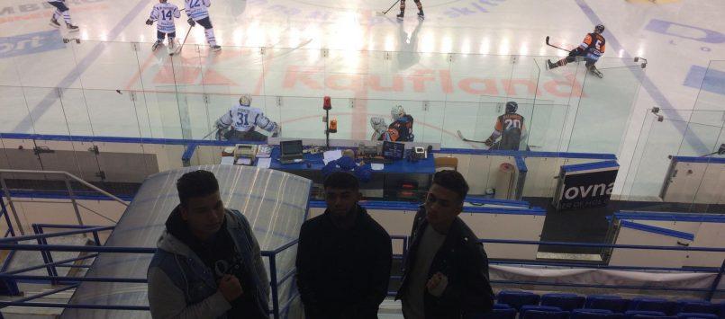 Hokejový zápas v Poprade